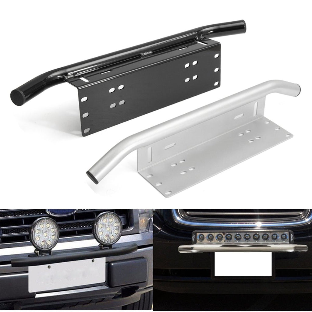 Off-road Exclusive License Plate & LED Light Front Bumper Mount