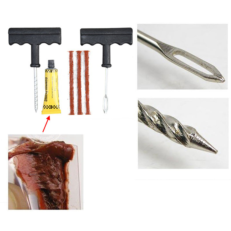 Tire Repair Kit For Car & Bike - Tubeless Tire