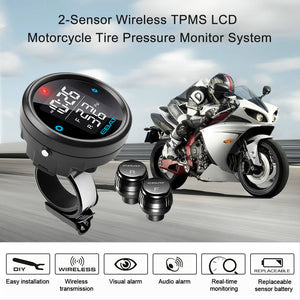 Motorcycle Tire Pressure Monitor System With LCD Display (ET-910AE)