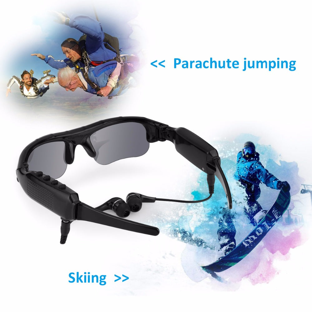 Hi-Tech 1080P Recording Camera Sunglasses Bluetooth 4.0