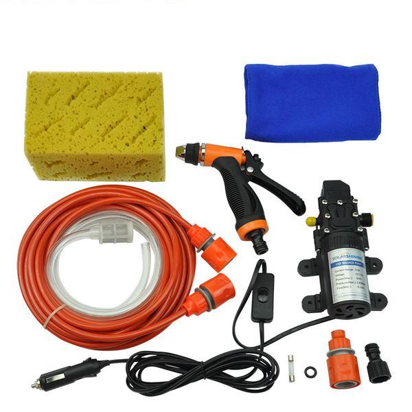 Cigarette Lighter Powered Portable High Pressure Car Washer Set