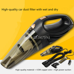 Strong Power Car Vacuum Cleaner with Handbag 4.0 KPA Cyclonic Wet / Dry