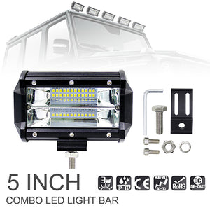 7D 5'' 12'' 16'' 20'' Inch Auto Car LED Light Bar