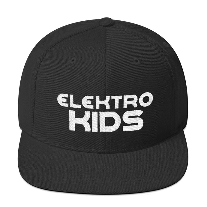 Elektro Kids (Solid White) Embroidered Snapback Hat (w/