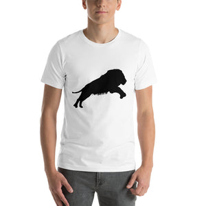 Lion Silhouette short-sleeve Unisex T-Shirt - Elektro Kids Media