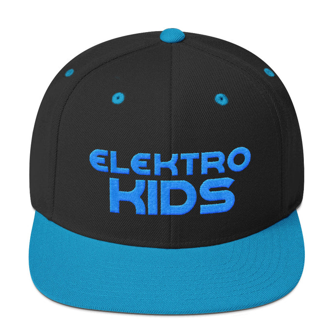 Elektro Kids (Solid Blue) Embroidered Snapback Hat - Elektro Kids Media