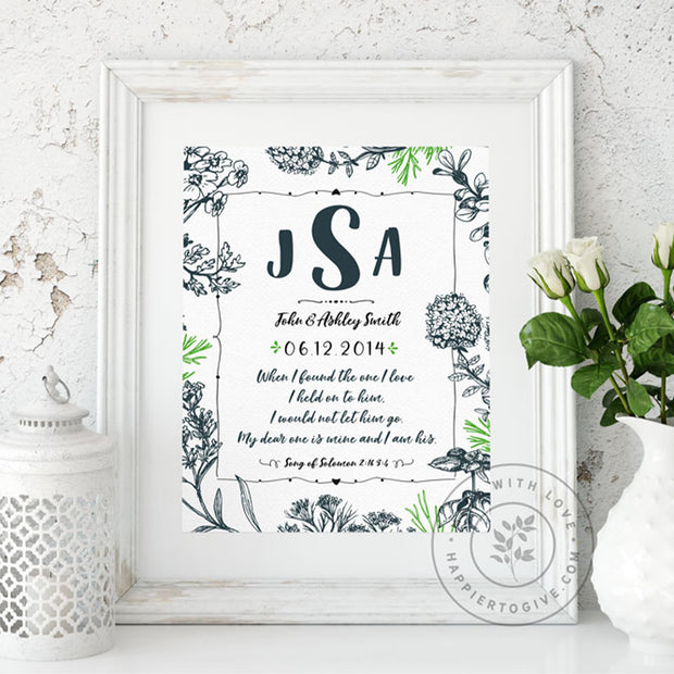Wedding / Anniversary : Personalized Wedding Printable Download : Farmhouse Collection : English & Spanish