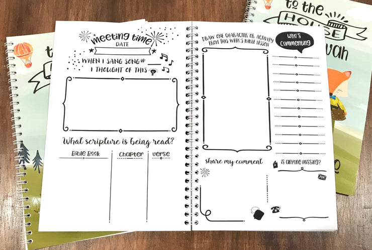 Children's Meeting Workbook : All Meetings Included : Notes & Illustration Sections