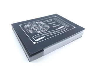 Sorry I Missed You Sticky Notes : 100 Deluxe Page Booklet : Vintage Style Silver Stamped