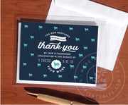 5 pack shepherding sheep cards. Navy blue cards with teal sheep pattern. Thank you for hardworking brothers.