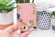 """God will not forget your work"" pink floral JW magnet"