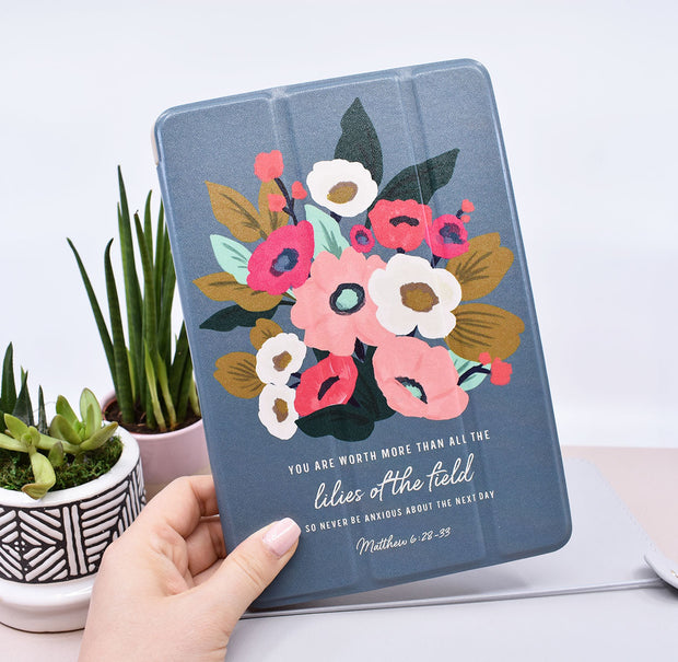 More Than All of the Lilies : Super Soft iPad Case, Silicone Back, Sleep / Awake Feature : 60% off