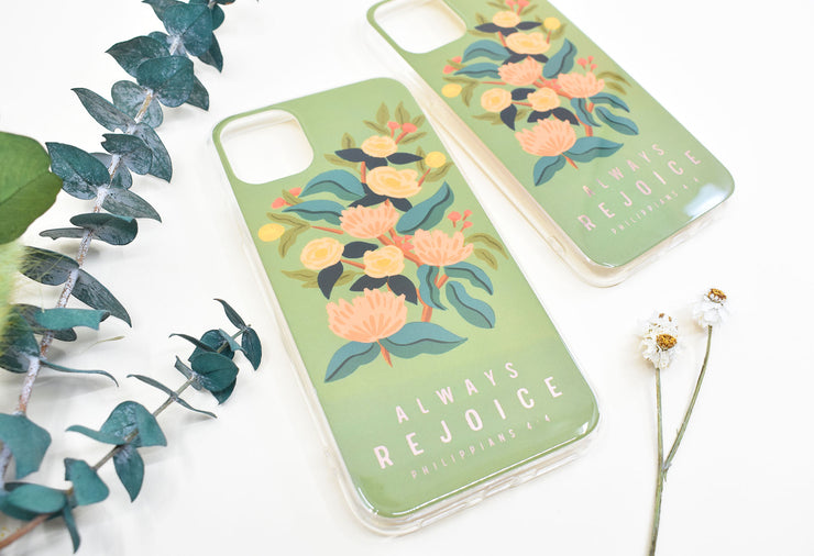 iPhone Case : Always Rejoice : Size 11, 11 Pro, 11 Pro Max, & XR : 65% off