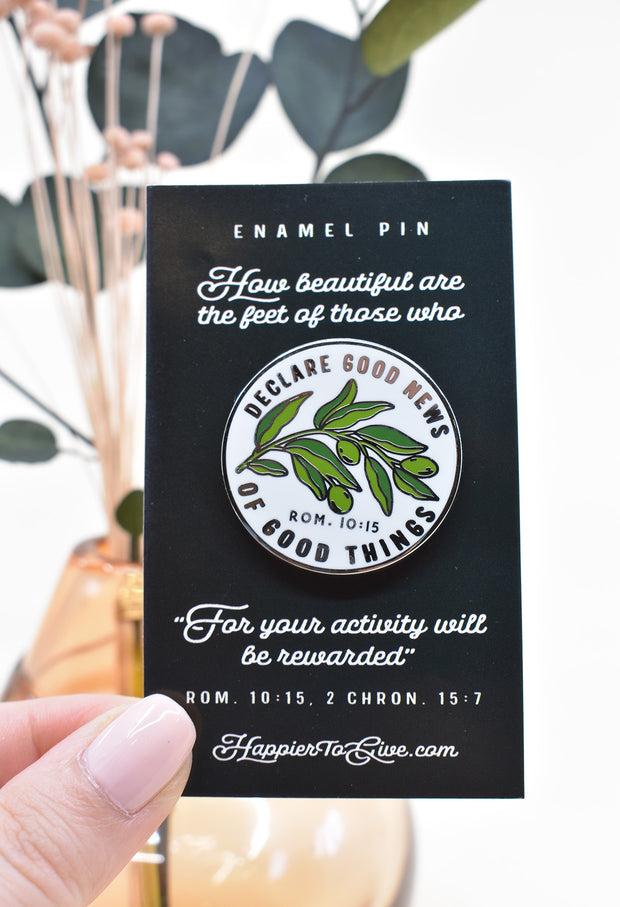 Declare Good News : Enamel Pin : Guys and Gals