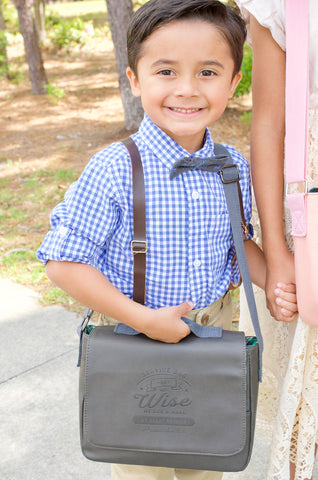 Kids Ministry Bag : Gray & Green Plaid