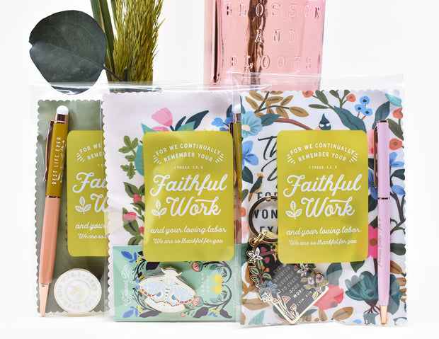 50 Pack Clear Bags for Gifting : Continually thankful for your faithful work:)