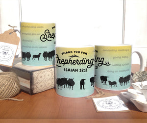 Shepherding Us Sheep - Coffee Mug - Non-Personalized