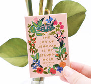 3 Pack Magnet Gift Set : Individually Wrapped : My Household, Joy of Jehovah, Grasping Your Right Hand