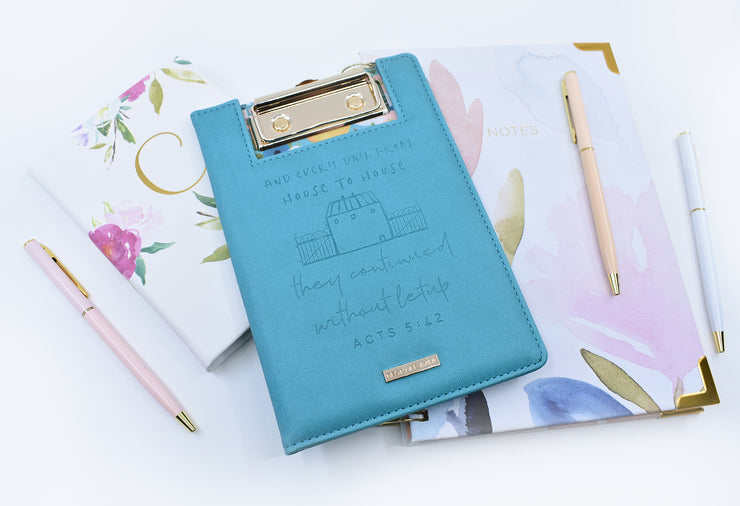 Mini Clipboard : Not At Home Record Keeper : Teal : 50% off