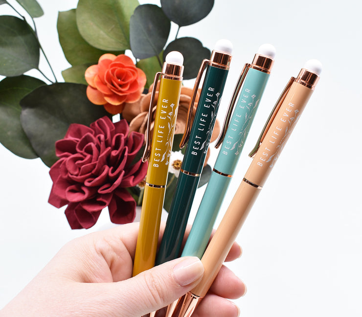 Best Life Ever Pens : Vintage Rose Gold Collection : Metal : Stylus Tip