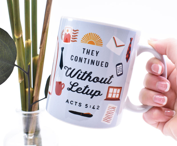 Preaching Without Letup : Letter Writing and Zoom Mug : Blue