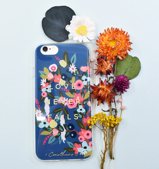 iPhone Case : Love Never Fails : 20% off
