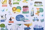 Kids Powerful By Faith Happy Sticker Pack : Vinyl, Washable & Removable : 3 Pages