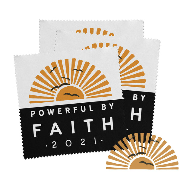 2021 Powerful By Faith Convention Gifts : Microfiber Lens / Screen Cloths : 5 Pack, 10% off
