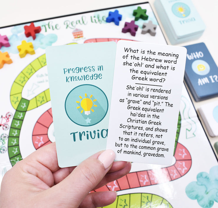 The Real Life - Acting, Humming, Drawing, & Trivia! Acting Out Bible Story Scenes, Bible Trivia, and Little Lessons in The How Did You Do Cards, Who am I Trivia, Doodle Board for Bible Pictionary, Humdingers all Included:) NEW DELUXE VERSION