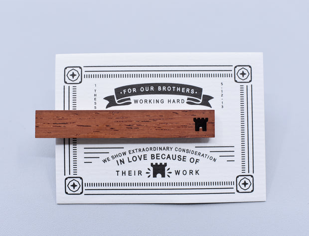 Tie Clip : Wooden : Brothers