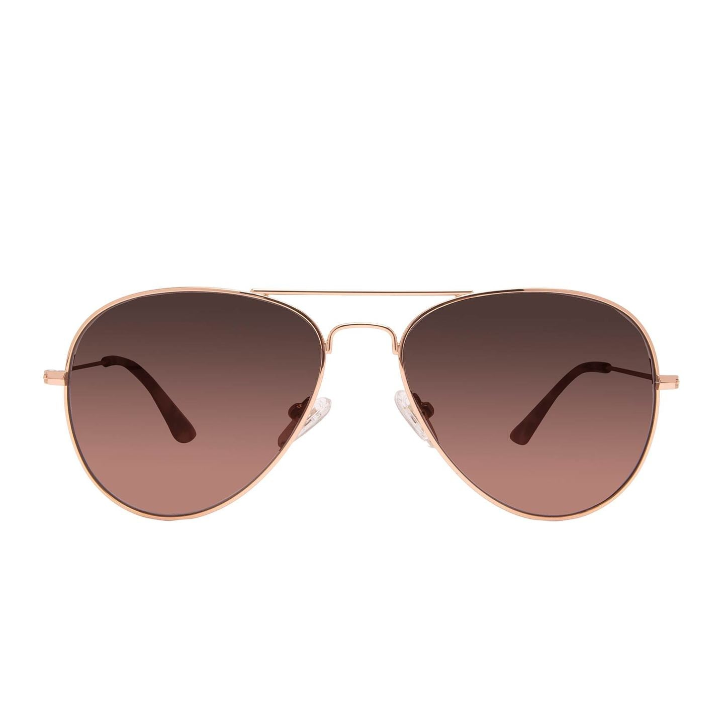 CRUZ AVIATOR - ROSE GOLD + WINE GRADIENT LENS - NON POLARIZED