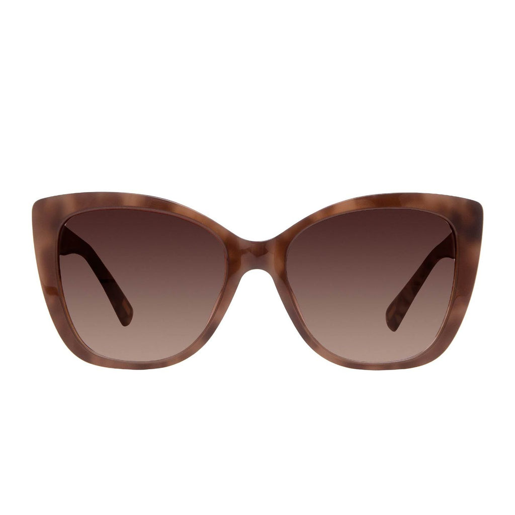Ruby mocha tortoise + coffee gradient lens