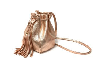 Metallic Bucket Bag