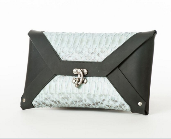 Python Clutch Black & White