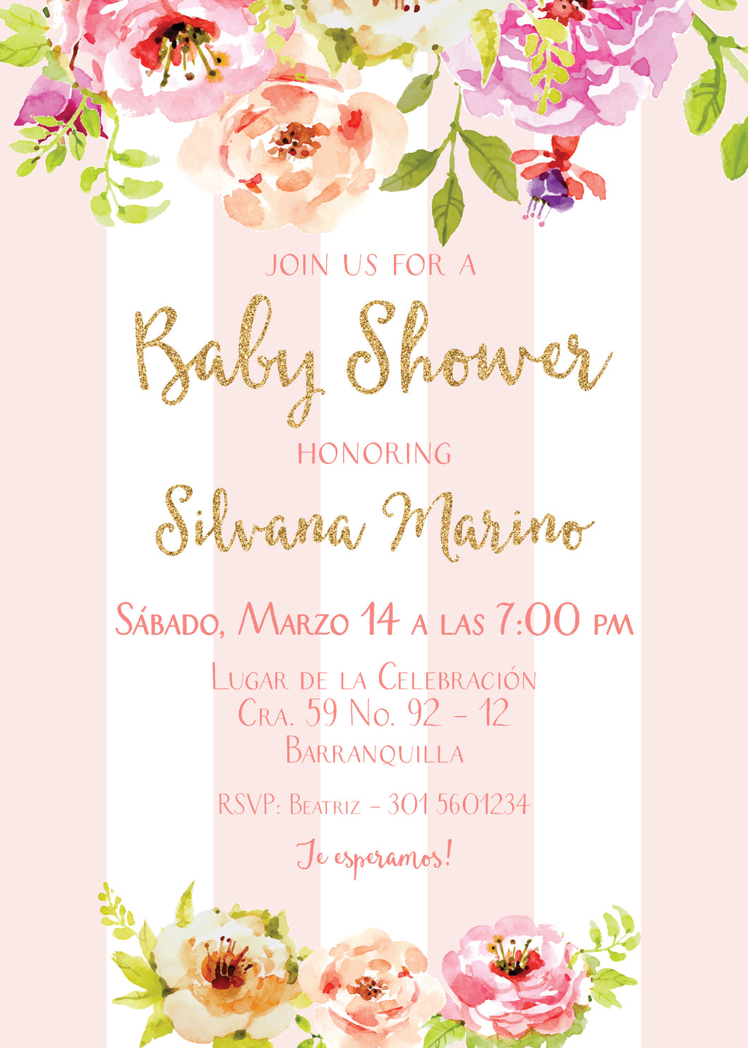 Invitación Baby Shower De Niña Inkterest