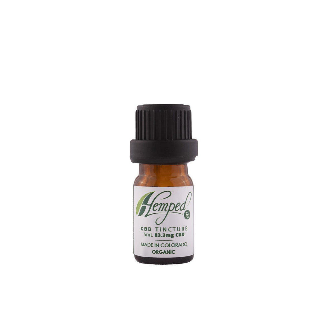 CBD Strawberry flavored 15ml Tincture by HempedRX sample size