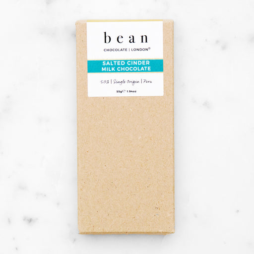 Salted Cinder Milk Chocolate - bean CHOCOLATE | LONDON