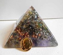 P.Blue Crystal Clear Large Pyramid 2H 3.5B #13 Custom Positive Orgone Energy Abundance=Life+LOVE!!!