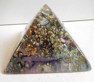 P.Blue Crystal Clear Large Pyramid 2H 3.5B #12 Custom Positive Orgone Energy Abundance=Life+LOVE!!!