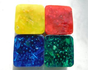 4 Transparent Mini Cube Tower Busters Blue Green Yellow Red Positive Orgone Energy Accumulator Generator LIFE LOVE!!!