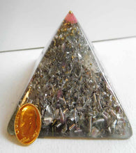 Load image into Gallery viewer, Crystal Clear Pink Large Pyramid 2H 3.5B #71 Custom Positive Orgone Energy Abundance=Life+LOVE!!!