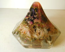 Load image into Gallery viewer, Mixed Colors 8 sided Small Pyramid 1.75H 2.75B Custom #5 Positive Orgone Energy Abundance=Life+LOVE!!!
