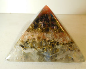 Mixed Colors Large Pyramid 2H 3.5B #13 Custom Positive Orgone Energy Abundance=Life+LOVE!!!