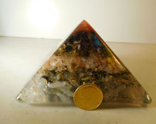 Load image into Gallery viewer, Mixed Colors Large Pyramid 2H 3.5B #13 Custom Positive Orgone Energy Abundance=Life+LOVE!!!