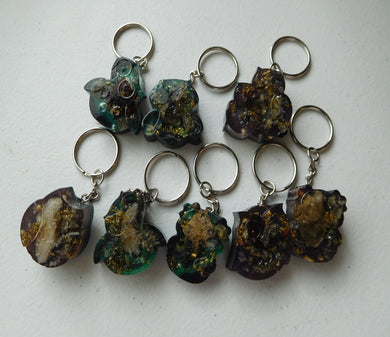 Key Rings Owls Custom Positive Orgone Energy Accumulator Generator LIFE LOVE!!!
