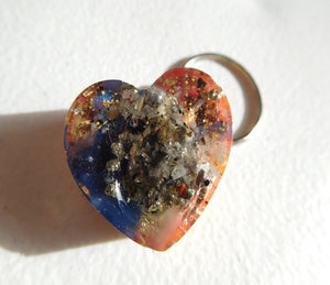 Key Rings Center Spiral Hearts Custom Positive Orgone Energy Accumulator Generator LIFE LOVE!!!