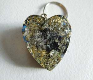 Key Rings Patterned Hearts Custom Positive Orgone Energy Accumulator Generator LIFE LOVE!!!