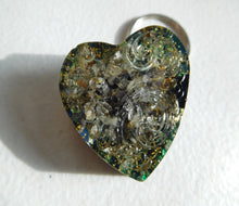 Load image into Gallery viewer, Key Rings Patterned Hearts Custom Positive Orgone Energy Accumulator Generator LIFE LOVE!!!