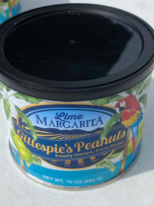 Carolina BBQ Lime Margarita cans Gillespie's Peanuts grown on our family farm