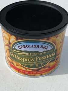 Salted Carolina BBQ cans Gillespie's Peanuts grown on our family farm